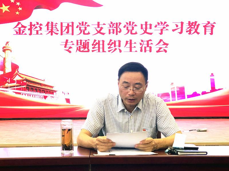 市金控集团召开党史学习教育专题组织生活会